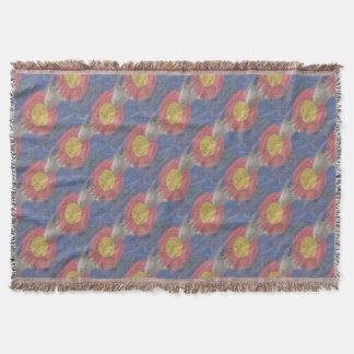 Colorado State Silk Flag Throw Blanket
