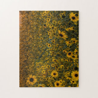 Colorado Sunflowers at Dusk Jigsaw Puzzle