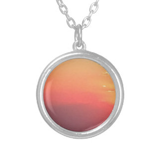 Colorado Sunset Silver Plated Necklace