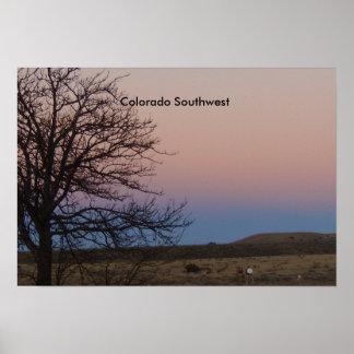 Colorado SW Dusk Springtime Poster