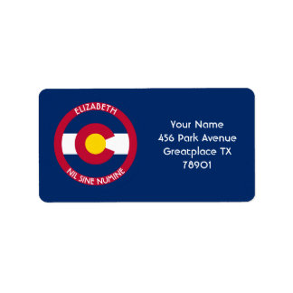 Colorado The Centennial State Personalized Flag Label