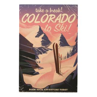Colorado to Ski! Vintage travel poster
