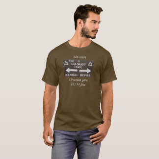 Colorado Trail. Denver to Durango sign. Elevation T-Shirt