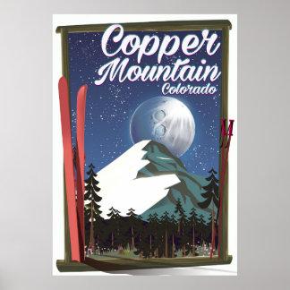 Colorado travel poster Copper Mountain