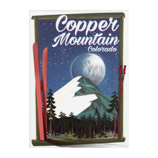 Colorado travel poster Copper Mountain Acrylic Print