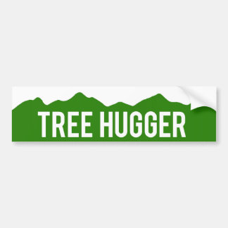 Colorado Tree Hugger Mountains Bumper Sticker