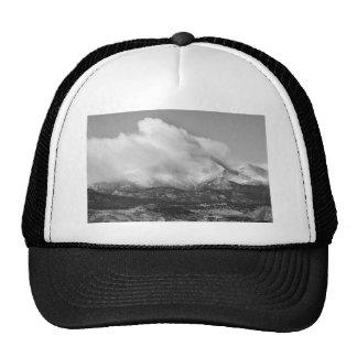 Colorado Twin Peaks Winter Weather View BW Mesh Hat