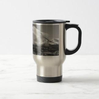 Colorado Twin Peaks Winter Weather View BW Coffee Mug