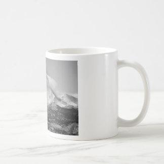 Colorado Twin Peaks Winter Weather View BW Mugs
