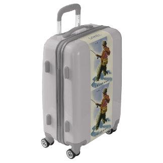 Colorado USA vintage travel custom name luggage