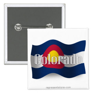 Colorado Waving Flag Pin
