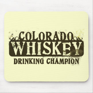Colorado Whiskey Drinking Champion Mouse Mat