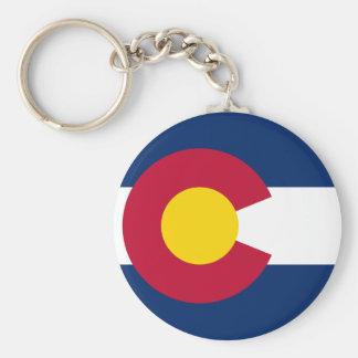 Colorado's Flag Basic Round Button Key Ring