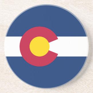 Colorado's Flag Beverage Coaster