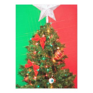 colorblock christmas tree 14 cm x 19 cm invitation card