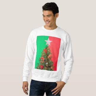 colorblock christmas tree xmas mens sweatshirt