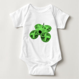 Colorblock Green Inductrix Tiny Whoop Drone Baby Bodysuit