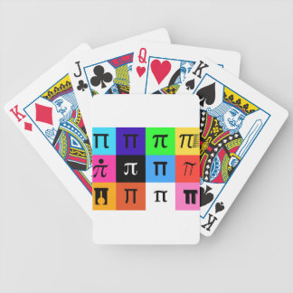 colorblock happy pi day bicycle playing cards