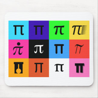 colorblock happy pi day mouse pad