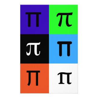 colorblock happy pi day stationery