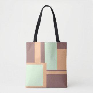 Colorblock Pattern Tote Bag