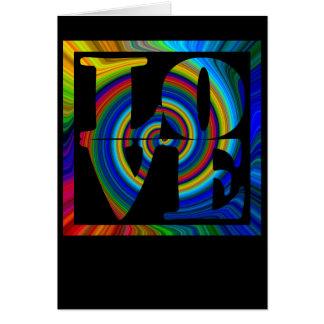 colorburst framed spiral square love card