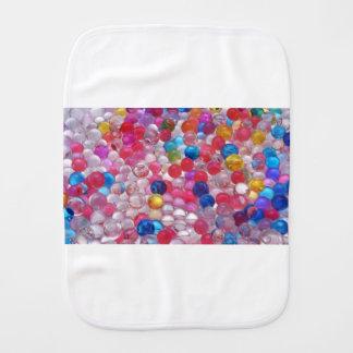 colore jelly balls texture burp cloth