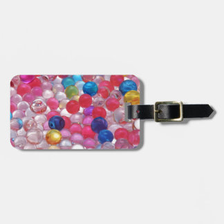 colore jelly balls texture luggage tag