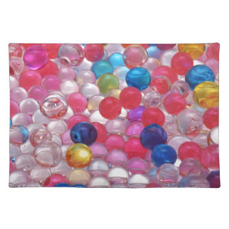 colore jelly balls texture placemat