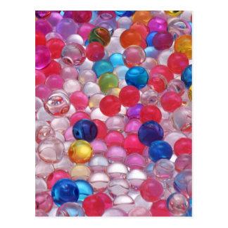 colore jelly balls texture postcard