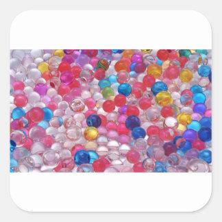 colore jelly balls texture square sticker