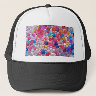 colore jelly balls texture trucker hat