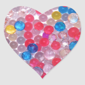 colore water balls heart sticker