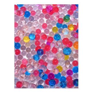 colore water balls postcard