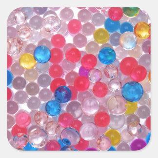 colore water balls square sticker