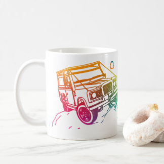 Colored 1 3D Jeep Coffee Mug