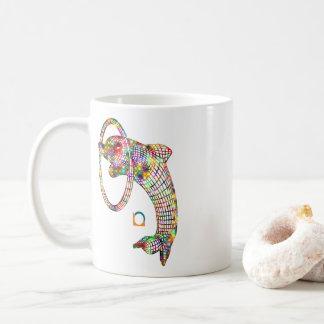 Colored 3D Dolphin Coffee Mug