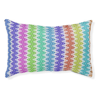 Colored Aztec Inspired Designed Pet Bed