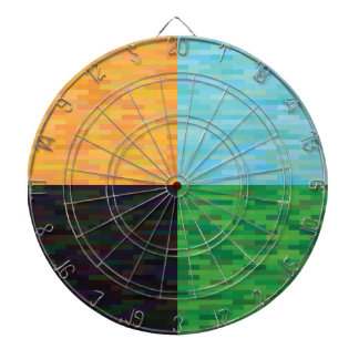 colored background dartboard