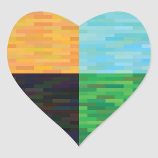 colored background heart sticker