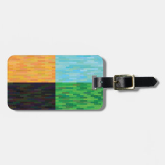 colored background luggage tag