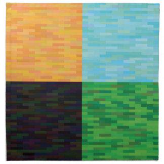 colored background napkin