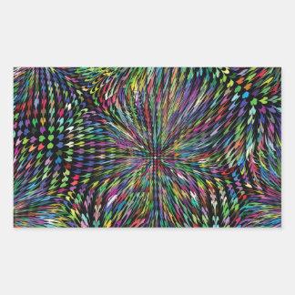 colored background rectangular sticker