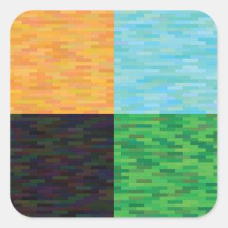 colored background square sticker