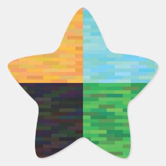 colored background star sticker