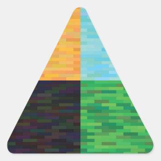 colored background triangle sticker