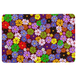 Colored Blossoms Floral Floor Mat