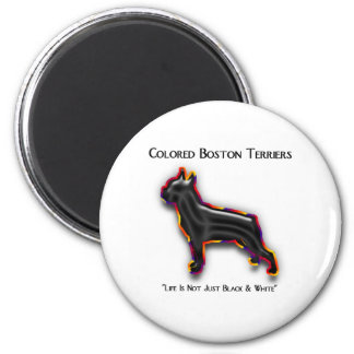 Colored Boston Terrier 6 Cm Round Magnet