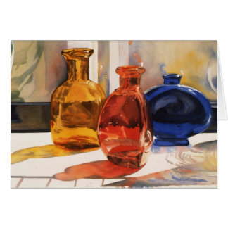 Colored Bottles Card