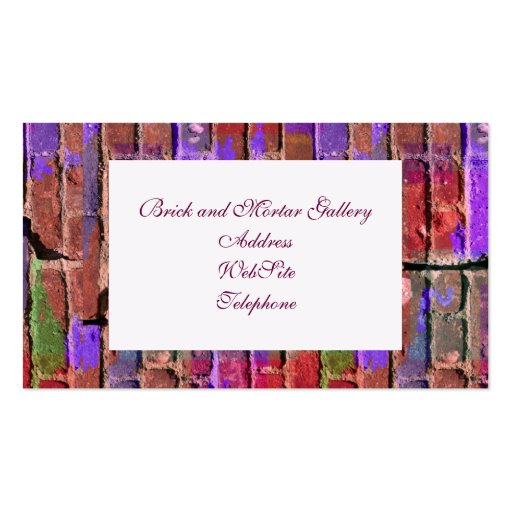 Colored Brick and Mortar 2 Business Card Template